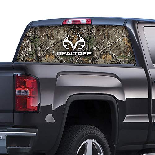 Camowraps (RT-WF-XT-RL) Xtra Camo Window Film with Realtree Logo (Camo Decals Truck)