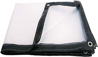 Z-P Bâche Transparente Côté Noir avec Bâche Boutonnière Écran Solaire Multifonctionnel en Plastique Épais Tente Imperméable Tissu Pare-Soleil Pare-Soleil
