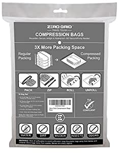 Zero Grid Travel Compression Bags – 10 Count