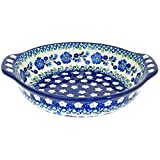 Polish Pottery 6.5'' Handmade Round Au Gratin For One 142- Spring Melody