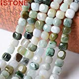 iSTONE Unisex Genuine Gemstone Stone Semi Precious Stone Pendant Necklace for Men Women