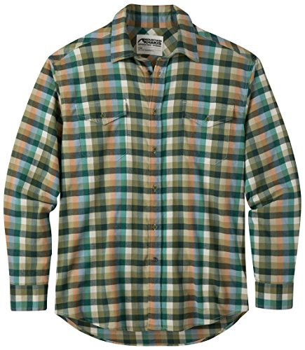 Mountain Khakis Men's Peaks Flannel Shirt, Spruce Multi, Large (Shirt Oz 5 Flannel)