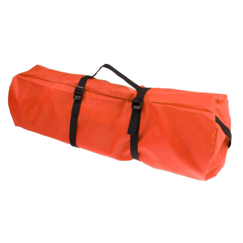 Jiliオンライン耐水性20dテントSleepingバッグ軽量圧縮袋携帯ケースバッグ B077X8SDPT オレンジ オレンジ