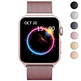 Electronics : OROBAY For Apple Watch Band 38mm, Stainless Steel Mesh Loop with Adjustable Magnetic Closure Replacement iWatch Band for Apple Watch Series 3 Series 2 Series 1, Rose Gold