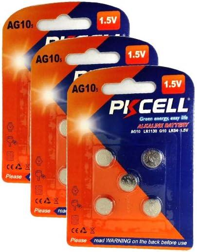100 Pile Piles Bouton AG 10,AG10,LR1130,389;SR1130,189