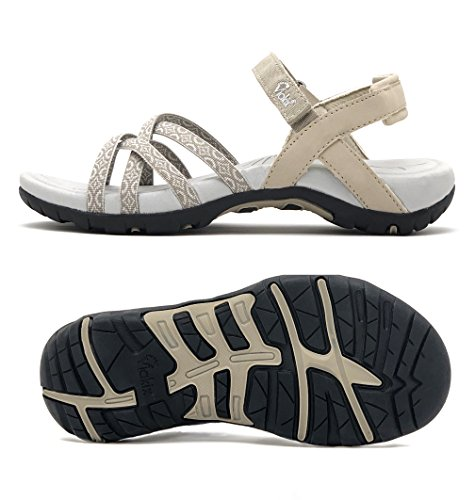 Viakix Walking Sandals for Women - Comfortable Stylish Athletic Sandals for Hiking, Water, Outdoors, Sports
