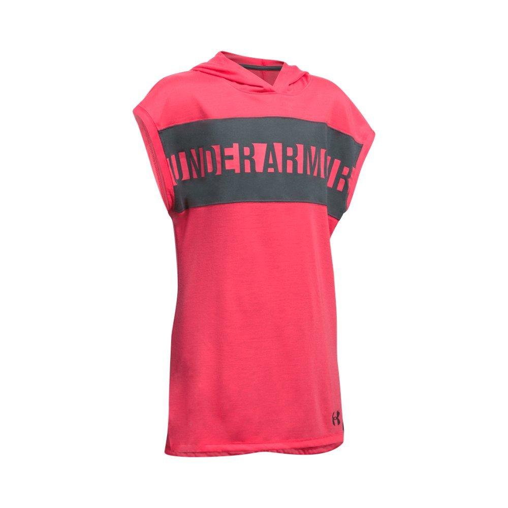 Under Armour Girls' Threadborne Tunic, Gala /Rhino Gray, Youth X-Small