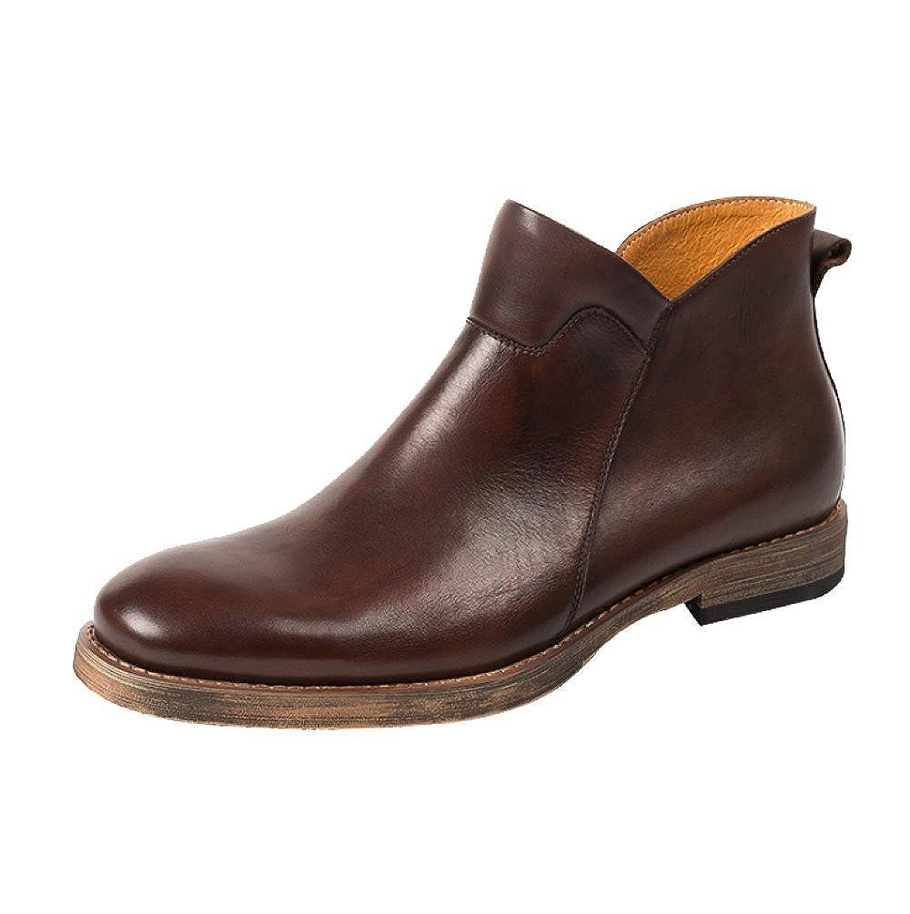 ZPFDY Mann Herbst Casual Retro Martin Stiefel Mode Faule Lederstiefel