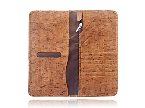 Dark Cork Long Passport Holder Passport Case Passport Cover Travel Wallet Travel Notes Travel organizer card (Dark Cork)