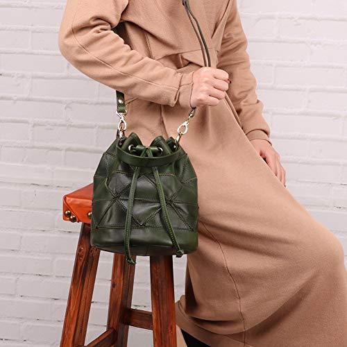 Dxqi Mode couleur En À Pour La Bandoulière Cuir Brown tout Fourre 22x19x19cm Décontractée Sac Green Vintage Taille Et Femme Décontracté rtzxwr