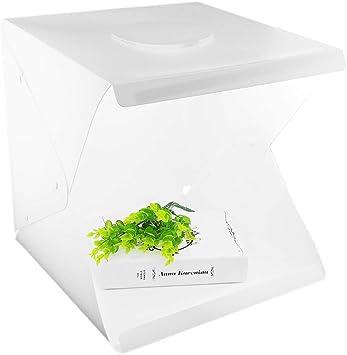 Caja portátil para Estudio fotográfico, Mini Caja de iluminación LED para Estudio fotográfico con Kit de Bolsa de 2 Fondos para fotografía: Amazon.es: Electrónica