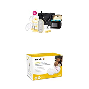 Medela Freestyle Flex Breast Pump and Ultra Thin Disposable Nursing Pads 120 Count, Closed System Quiet Portable Breastpump, Bra Pads with Leakproof Design, Contoured for Optimal Fit and Discretion