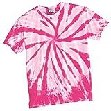 Port & Company PC147 Essential Tie-Dye Tee - Pink - XL