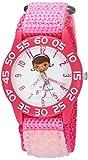 Disney Girl's 'Doc Mcstuffins' Quartz Plastic and Nylon Casual Watch, Color Pink (Model: WDS000286)