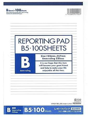 amazon レポート用紙b5 re22bn ノート 文房具 オフィス用品