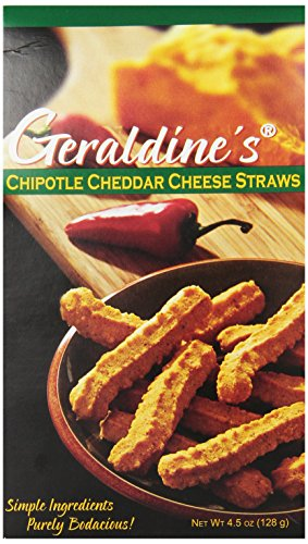 Geraldine's Cheese Straws, Chipotle Cheddar, 4.5 (Classic Cheese Straws)
