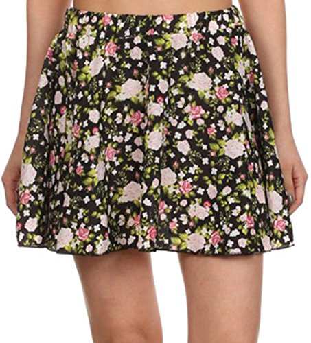 Simplicity Womens Floral Flared Pleated