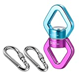 mdairc Rotational Device Climbing Safest Swivel Spinner 360° Rotator 30KN with 2 Carabiners for Web Tree Swing Rope Hammock, Holds Up 2500 up Lbs