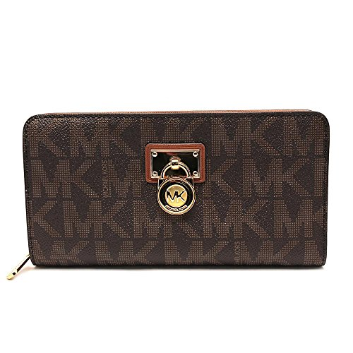 Michael Kors Hamilton Signature Continental Wallet in Brown by MICHAEL Michael Kors