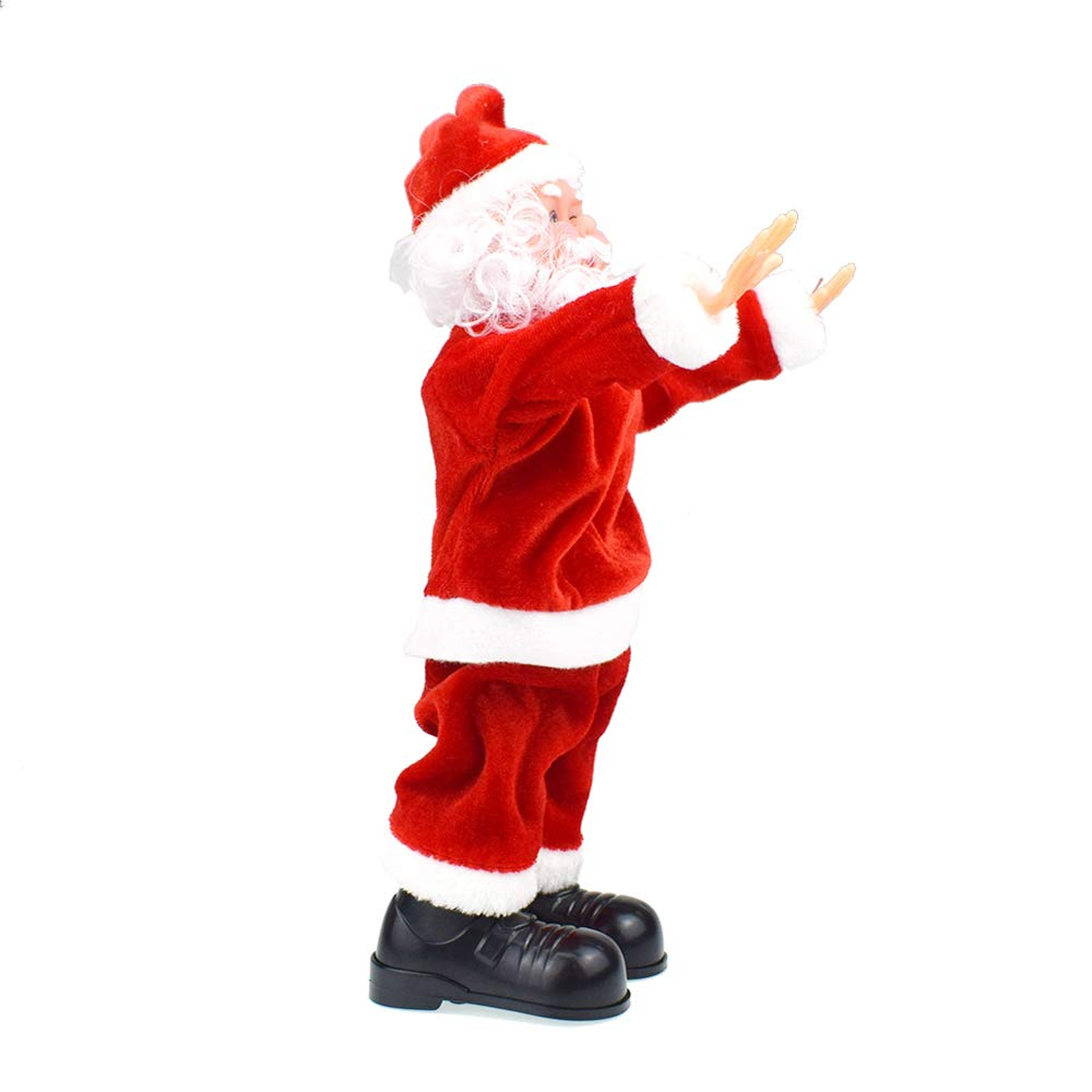 Santa Claus Somersault Stunt Christmas Ornament Battery Operated Singing Dancing Walking Climbing Doll Toys Gifts Decorations by Godyluck