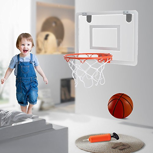 XinBooming Indoor Hanging Basketball Hoop Mini Basketball Board For Office Game & Kids Game by XinBooming