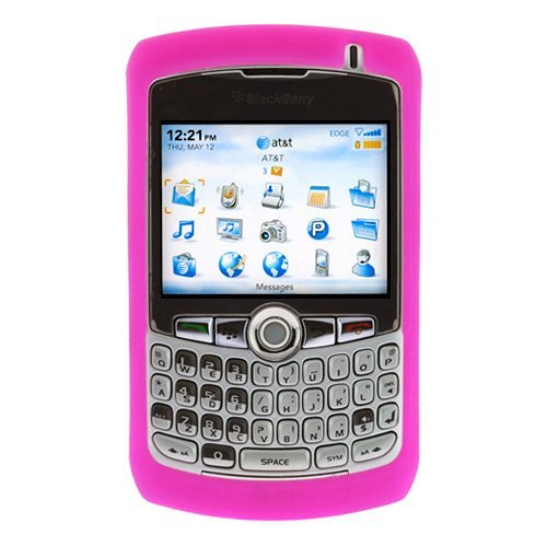 Blackberry Curve 8300 8310 8320 8330 Silicone Skin Case Phone Protector Cover Hot Pink