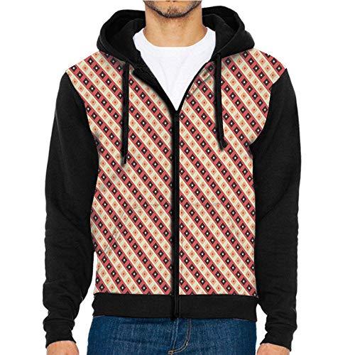 Montclair 3 Light - 3D Printed Hoodie Sweatshirts,Ornament Pattern Light Pink,Hoodie Casual Pocket Sweatshirt