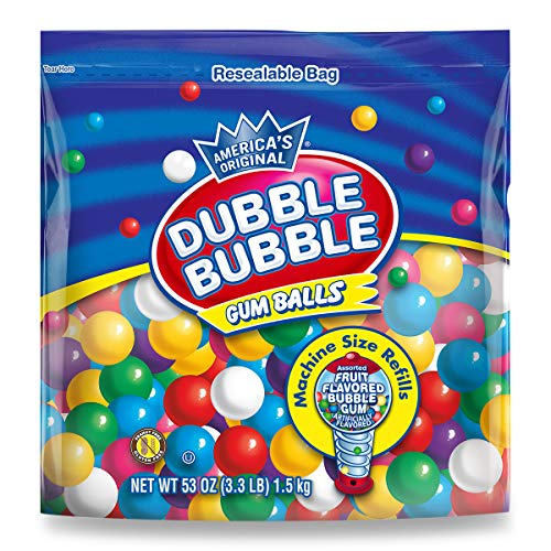 Dubble Bubble Gumball Refill, 8 Flavors, 3.3 -