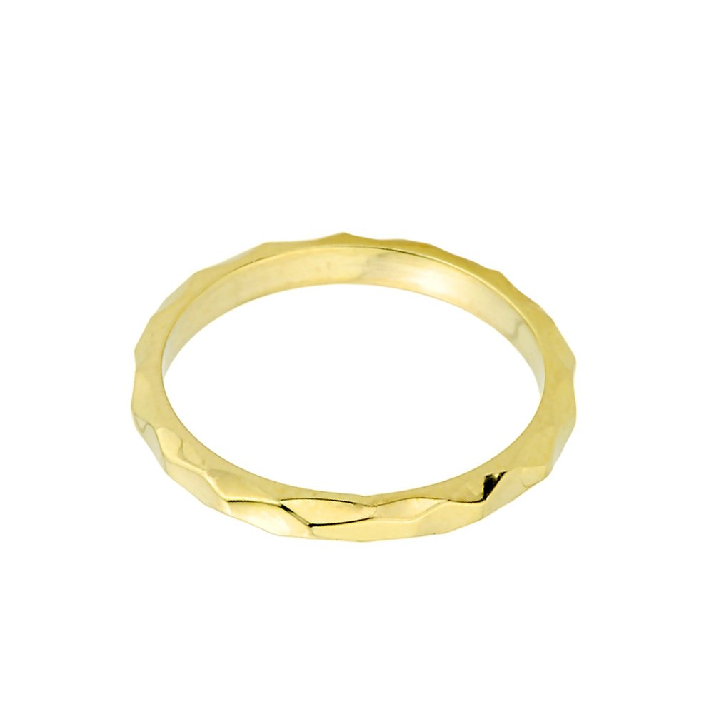 Solid 10k Yellow Gold Spike Band Baby Ring, Size 3