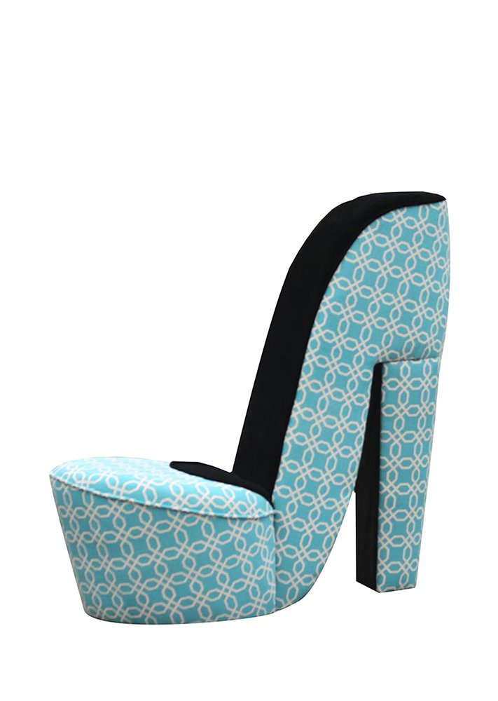 Hi Line Gift Ltd Mini High Heel Shoe Chair Teal Pattern Fabric: Amazon.ca:  Home U0026 Kitchen