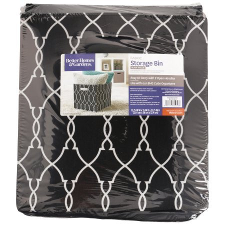 Better Homes & Garden Fabric Storage Bin - Black Trellis by Better Homes and Garden
