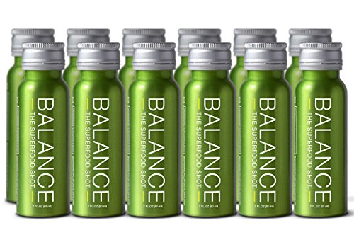 Superfood Shot, Organic Blend of Fruits, Vegetables and Greens, Smoothie, Green Drink to Take on the Go, Juice Cleanse, 2oz. Serving, Vegan, Gluten-Free (12 pack) by Life Equals