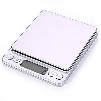ZHANGYUGE Báscula de Cocina Digital portátil de Bolsillo balanzas electrónicas de precisión LCD Joyería Peso de balanza de Cocina Balanza,1000g-0.1g: ...