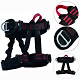 YaeTact Safety Rock Tree Climbing Rappelling Harness Seat Sitting Bust Belt,Half Body