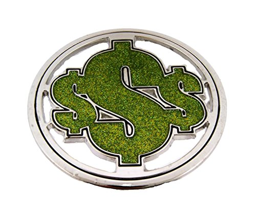 World Reserve Currency Dollar Sign Belt Buckle Collectible Fashion Costume Big