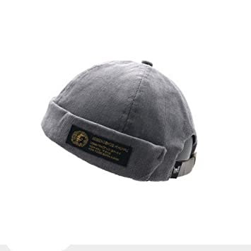 Clape Corduroy Docker Leon Brimless Hat Commando Work Beanie Rolled Cuff  Harbour Watch Cap Hat 59caf15be5da