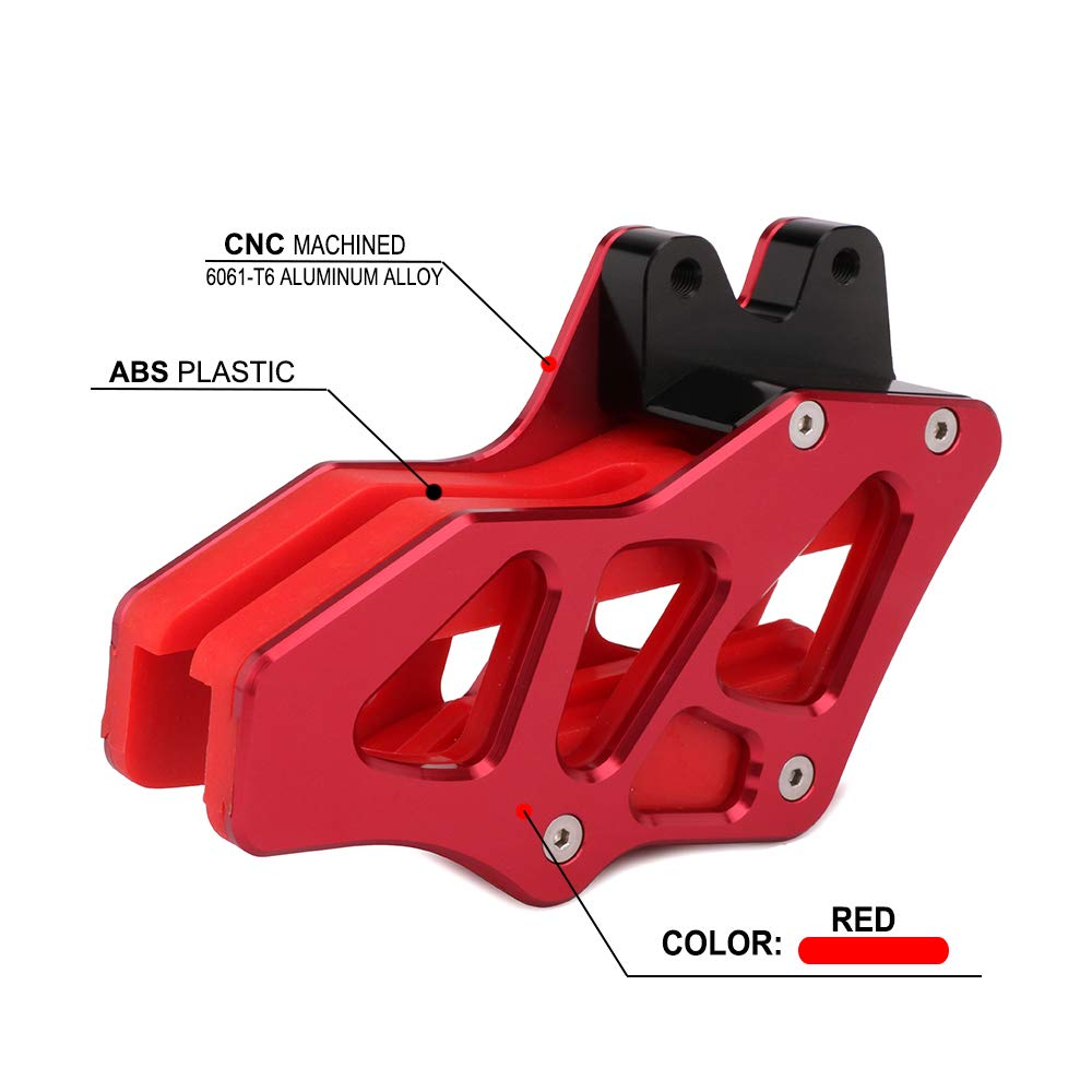 Motorcycle Red CNC Chain Guide Guard Protection For HONDA CRF150F CRF230F CRF 150F 230F 2003-2009 2012-2017 Motorbike Motocross