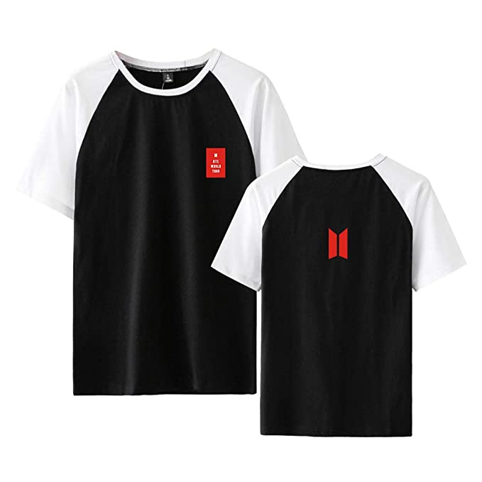 BTS Love Yourself Camisetas Manga Corta Ocasionales T-Shirt Top Verano Deportiva Camisas Hipster Remeras Cuello Redondo Poleras: Amazon.es: Ropa y ...