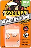 Gorilla Crystal Clear Duct Tape, 1.88'' x 5 yd, Clear, (Pack of 5)
