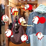 HAOLY Mall New Year Christmas Decoration Wall Stickers,Waterproof Window Stickers Glass Stickers,for Office Classroom-A 70x50cm(28x20inch)