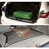 UXOXAS Universal Durable Dual Layer Network Automobile Trunk Luggage Mesh Storage Rear Cargo Net Double Layer, black