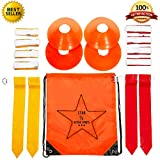 Star Active Sports Flag Football Deluxe Gear Set: Belts, Flags, Cones, Carry Bag & Bonus Flag Football Playbook (eBook)