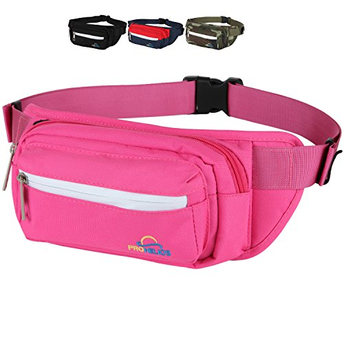 Pro Helios Premium Fanny Pack for Men & Women Water Resistant Waist Bag for Outdoor Activities, Traveling, Hiking, Biking, Running & More | Durable Zippered Pockets for iPhone & Accessories - Aqua Womens Bag