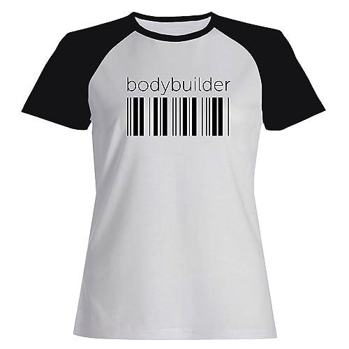 Idakoos Bodybuilder barcode - Ocupazioni - Maglietta Raglan Donna