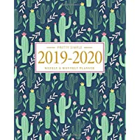 Pretty Simple Planners Weekly and Monthly Cactus Planner: Calendar Schedule + Organizer - Inspirational Quotes