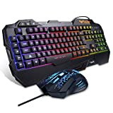 Havit Keyboard Rainbow Backlit Wired Gaming Keyboard Mouse Combo at Amazon