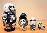 Russian nesting Doll ''The Nightmare before Christmas'' Jack Skellington. Set of 5 piece. Hand-painted in Russia.