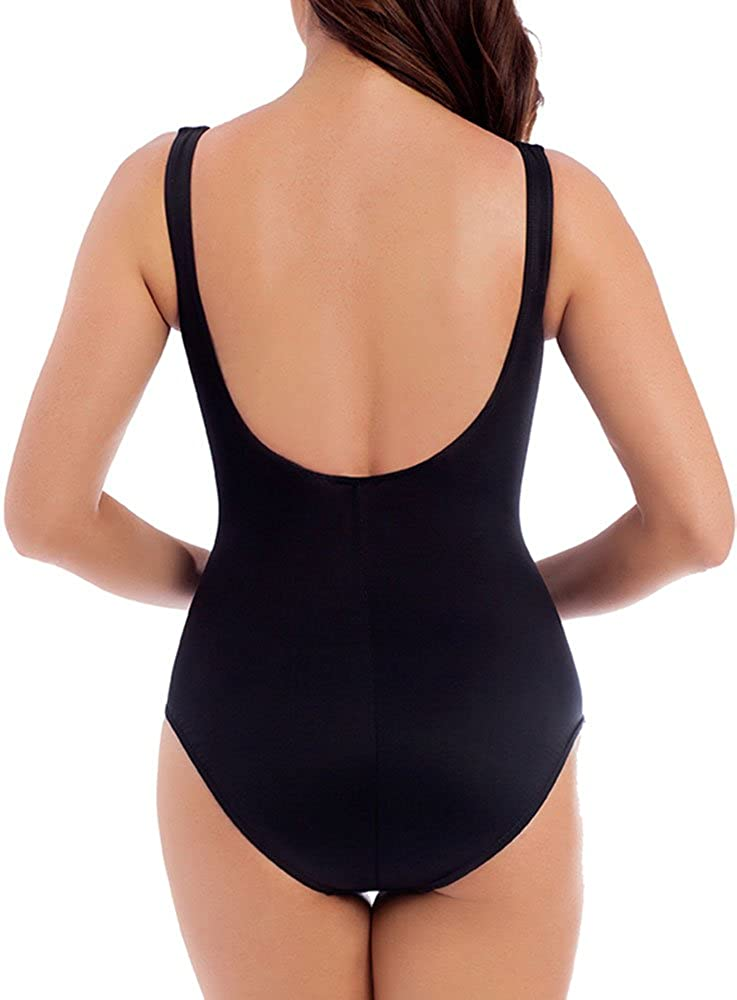 Miraclesuit Womens Swimwear Must Haves Escape Underwire Bra Tummy Control One Piece Swimsuit
