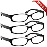 Reading Glasses - 3 Pack - Always Have Crystal Clear Vision Everywhere You Need It! Stylish Look with Sure-Flex Comfort Spring Arms & Dura-Tight Screws - 180 Day Guarantee +1.50