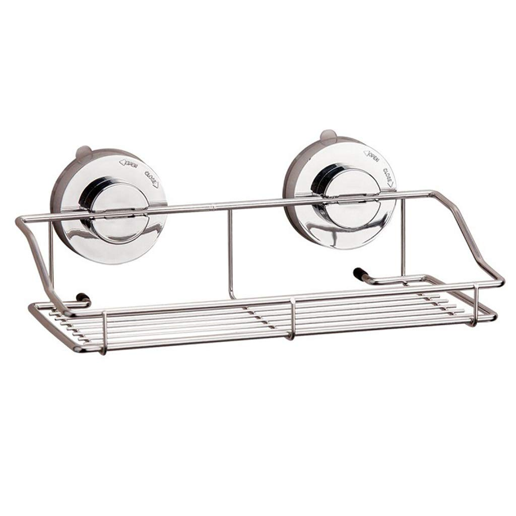 Powerful Suction Cup Holder Wall-Mounted Stainless Steel Bathroom Kitchen Bathroom Shelf Bathroom Corner Frame